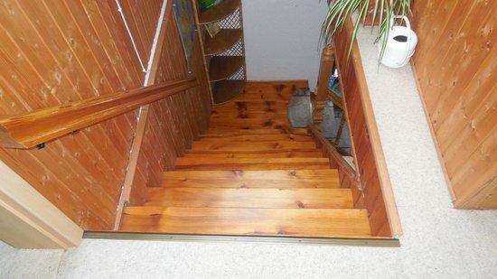 Fischersruh: Treppen auf oder Abgang, sehr steil