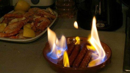 Pensao Royal: Flaming Sausages!