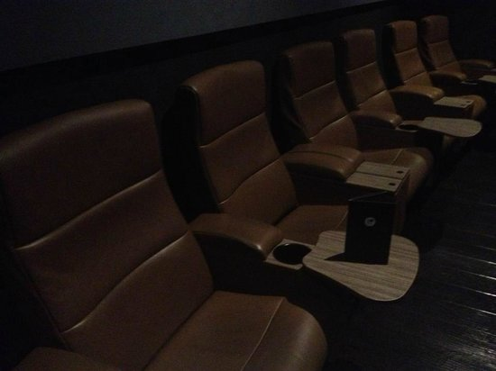 The Screening Rooms: Back row, comfortable seats!