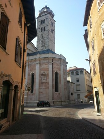 Hotel Accademia: My car, just around the corner, view from some rooms