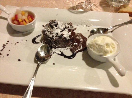 Masseria Panareo : Tortino al cioccolato artigianale