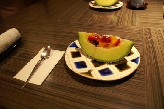 Nishiizu Koyoi Onsen : 夕食のデザート