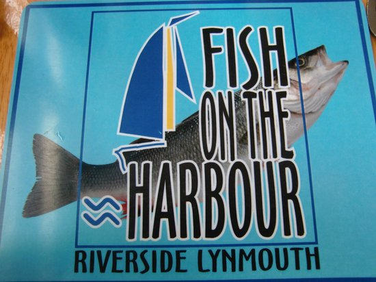 Fish on the Harbour: Its name written on the place setting