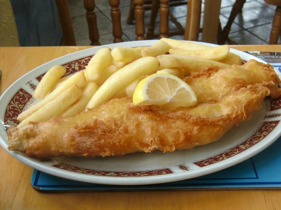 Lynmouth's Traditional Fish and Chips Fish on the Harbour: Tasty haddock and chips