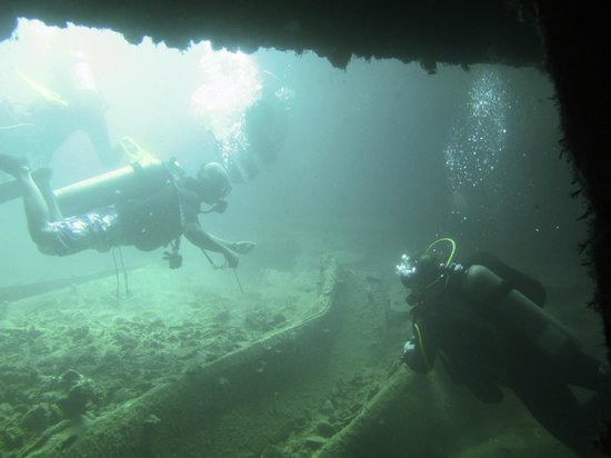 Neptune Dive Center : Inside the Olympia Maru