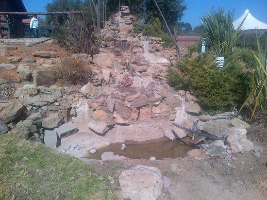 Qwantani Berg and Bush Resort: rock pool in front of the restaurant building
