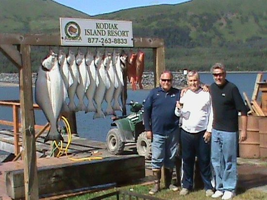 Alaska's Kodiak Island Resort: Me dad and Dean.