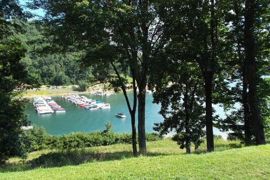 Tygart Lake State Park: View from our room