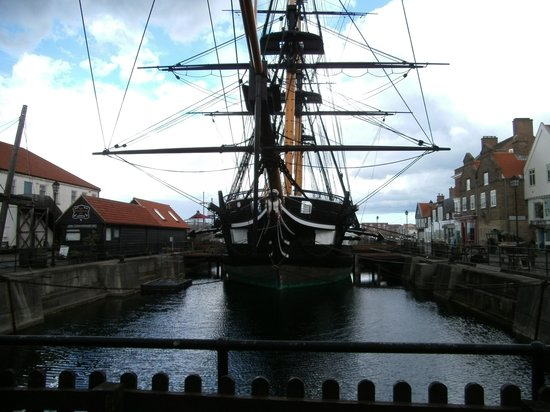 Premier Inn Hartlepool Marina Hotel: The restored sailing ship part of the maritime experience