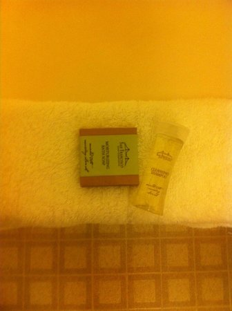 Super 8 Tomahawk: Entire complimentary toiletries in the bathroom