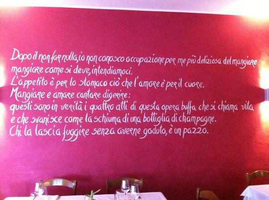 Etoile Restaurant: Citazione   da parte del proprietario del ristorante