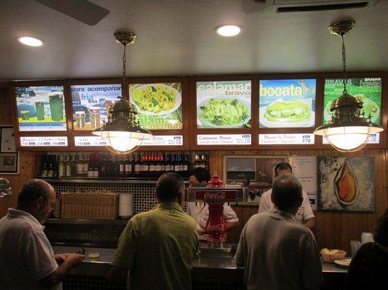 Cerveceria La Mejillonera: altri menù