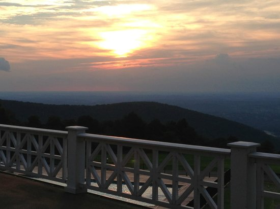 Historic Summit Inn: Sunset from the Terrace, where you can relax in a rocker