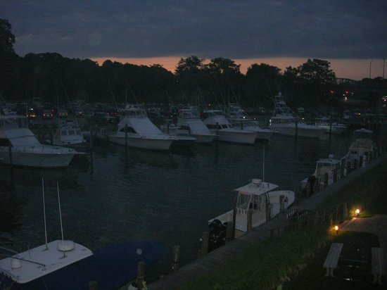 "Sunset looking over the bay from ""Cowfish"" Restaurant, Hampton Bays."