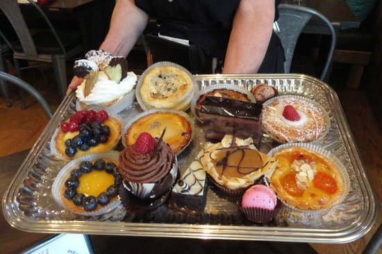 Old Martina's Hall : Dessert tray full of French Bakery items.