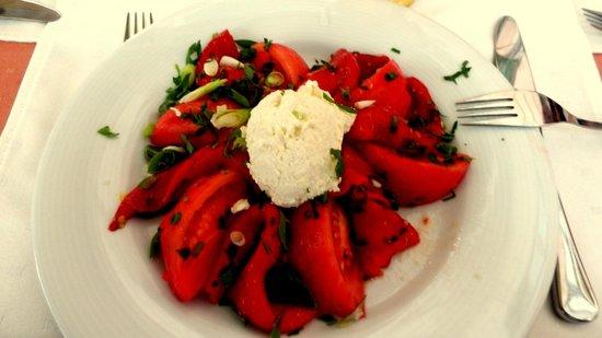 Bolero Bar-Pizza-Restaurant : Salade de tomates et poivrons au yogourt