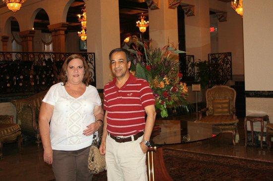 Floridan Palace Hotel: En el Lobby del Hotel.
