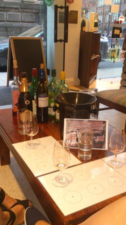 Behind the Town Hall: 3 wines to taste, 1 glass of your favourite plus a cheese and or meat platter all for £9 = brill