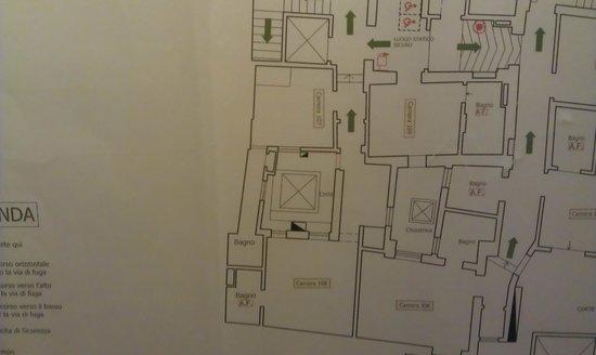 Hotel Art Atelier: Planimetria parziale del piano primo dell'hotel
