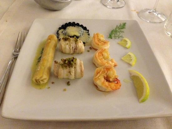La Sosta Restaurant: filetti di sogliola e gamberi