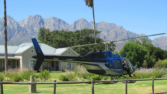 Seven Oaks Vineyard Cottages: Helipad for arriving in style