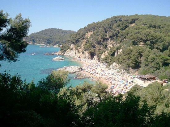 Jardin Santa Clotilde : vue sur mer