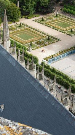 Tour et Crypte de la Cathédrale de Bourges : Veduta dei giardini dalla torre