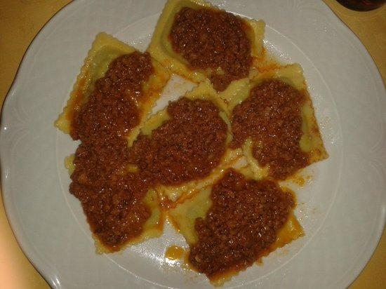 Sbrana: tortelli alla maremmana