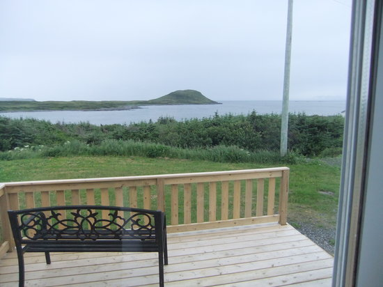 Viking Village Bed and Breakfast : view from private deck norstead room