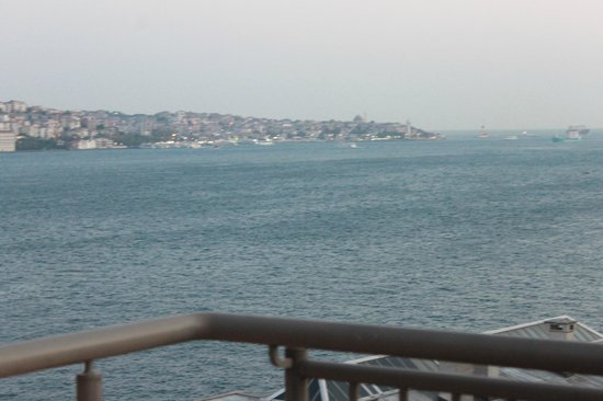 Radisson Blu Bosphorus Hotel, Istanbul: view from balcony. business class room 719