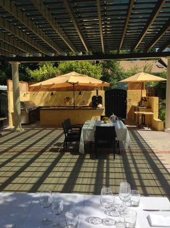 Depot Hotel Private Bar At End Of Pergola Terrace