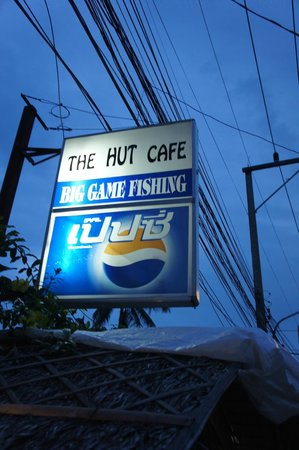 The Hut Cafe: de lichtreclame...