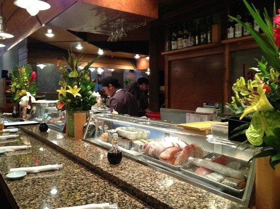 Japango Sushi Restaurant: The Sushi Bar area