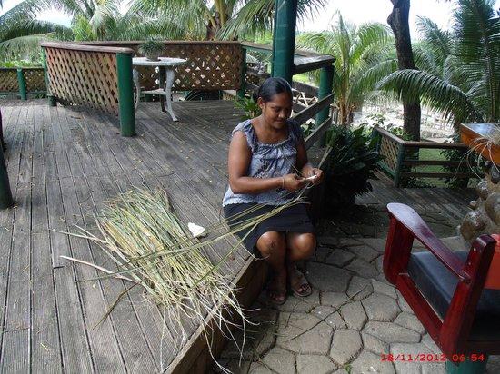 Stoney Creek: staff making me a sasa broom