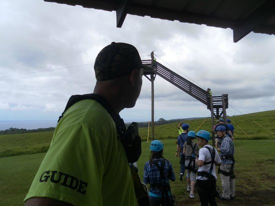 Umauma Falls: the staff was fun and all PROS