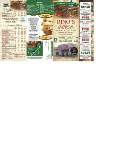 Rino's Pizzeria & Ristorante: Rino's Menu - Page 1