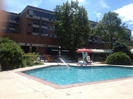 Trumbull Marriott Merritt Parkway: pool with on the rox bar pool side room service