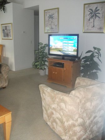 Decent sized TV in living area