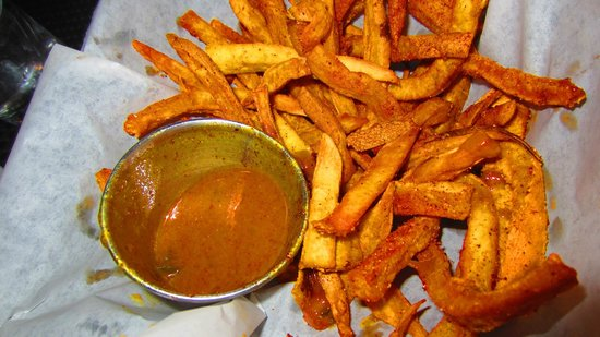 Bite: Sweet potato fries with creole maple mustard!