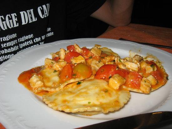 Hotel Alba Chiara : Tortelloni al pesce spada