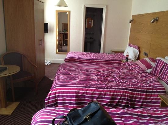 Hamilton Lodge : overall spacious for a triple room .. albeit dated!