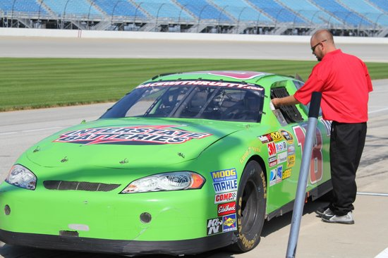 Richard Petty Driving Experience: They review the safety procedures before you take off