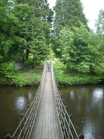 Caer Beris Manor Hotel: Suspension bridge