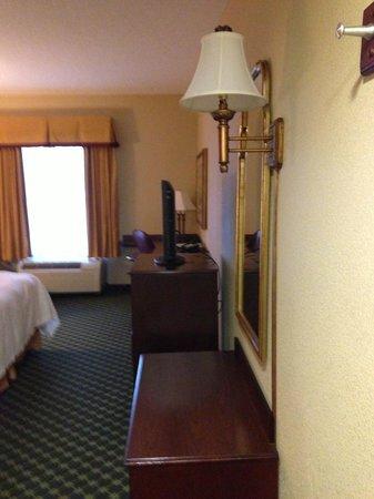 Hampton Inn Atlanta - Lawrenceville I-85 Sugarloaf : Bench, TV and desk