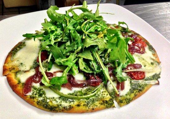 """Encore Dinner Theatre: Pestro Flat Bread Pizza (8"""")"""