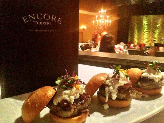 Encore Dinner Theatre: Lamb Sliders with Tzatziki Sauce