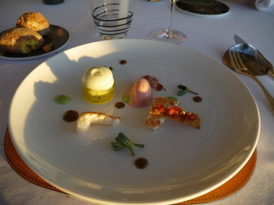 Restaurant Le Saint-James Relais & Chateaux: Langoustines juste raidies...