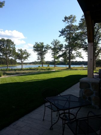 Lake AuSable Lodge at Forest Dunes Golf Club: View from room off my patio