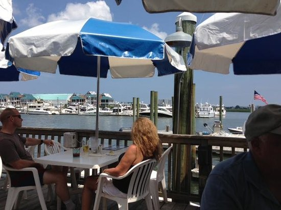 Dockside Restaurant: View from our table