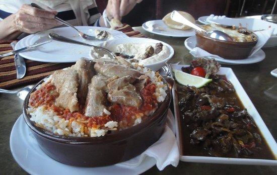 Le Steak: Fatta with moza and Alexandria-style liver